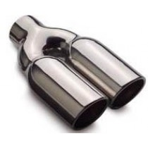 """Dual Rolled 2.25"""" Exhaust Tips"""